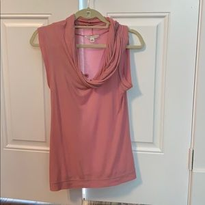 Sleeveless pale pink Banana Republic top